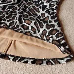 Cache Tops - NWT Cache tank top size Medium animal print/lace